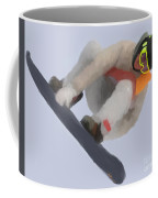 Red Gerard Snowboarding Gold Coffee Mug