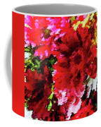 Red Gerbera Daisy Abstract Coffee Mug