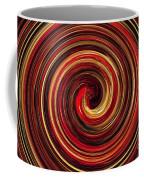 Have A Closer Look. Red-golden Spiral Art Coffee Mug