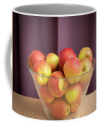 Red Green Apples In A Glass Bowl Coffee Mug