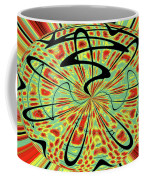 Red Green Yellow And Black Abstract Coffee Mug