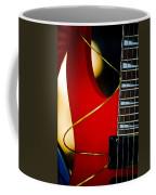 Red Guitar Coffee Mug by Hakon Soreide