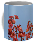 Red Gum Blossoms Australian Flowers Oil Painting Coffee Mug