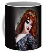 Red Hair, Gothic Mood. Model Sofia Metal Queen Coffee Mug