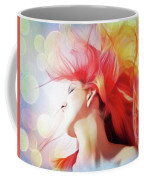 Red Hair With Bubbles Coffee Mug