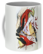 Red Hawaiian Honeycreeper Coffee Mug