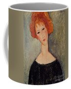 Red Head Coffee Mug by Amedeo Modigliani
