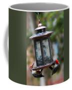 Red Head Wood Peckers On Feeder Coffee Mug