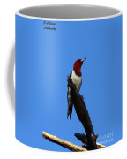 Red Headed Woodpecker On A Snag Coffee Mug