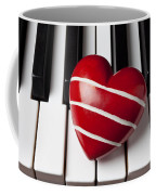 Red Heart With Stripes Coffee Mug
