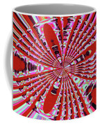 Red Heavy Screen Abstract Coffee Mug