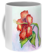 Red Hibiscus Coffee Mug