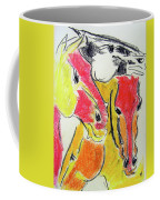Red Horses Coffee Mug