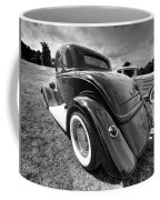 Red Hot Rod In Black And White Coffee Mug