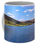 Red House Lake Allegany State Park Expressionistic Effect Coffee Mug