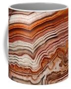 Red Laguna Lace Agate Coffee Mug