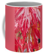 Red Leaf Abstract Coffee Mug