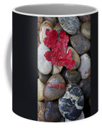 Red Leaf Wet Stones Coffee Mug