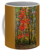 Red Leaves Of Autumn Coffee Mug
