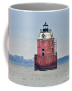 Red Lighthouse At The Sandy Point State Park Coffee Mug