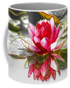 Red Lotus Flower Coffee Mug