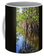 Red Mangrove Roots Reflections In The Gordon River Coffee Mug