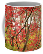 Red Maple Leaves And Branches Coffee Mug