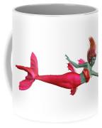 Red Mermaid On White Coffee Mug