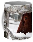 Red Milking Devon Snowflakes Coffee Mug