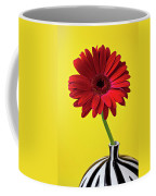 Red Mum Against Yellow Background Coffee Mug