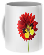 Red Mum With Dogface Butterfly Coffee Mug