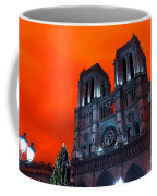 Red Notre Dame Pop Art Coffee Mug