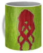 Nude Yoga Girl Red Coffee Mug