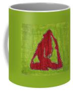 Red Nude Yoga Girl Coffee Mug