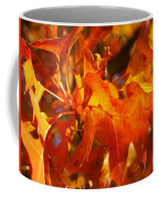 Red Oak Leaf Coffee Mug