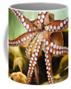 Red Octopus Coffee Mug