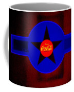 Red On Red With Blue Coffee Mug