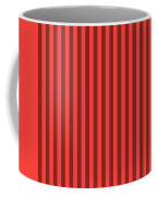 Red Orange Striped Pattern Design Coffee Mug