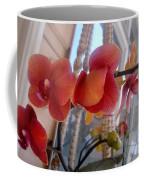 Red Orchid Flowers 01 Coffee Mug