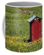 Red Outhouse 3 Coffee Mug