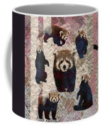 Red Panda Abstract Mixed Media Digital Art Collage Coffee Mug