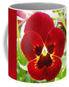 Red Pansy Coffee Mug