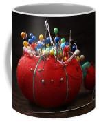 Red Pin Cushion Coffee Mug