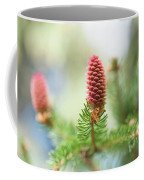 Red Pine Cone In Spring Time Coffee Mug