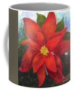 Red Poinsettia Coffee Mug