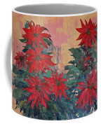 Red Poinsettias By George Wood Coffee Mug