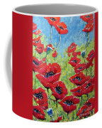 Red Poppies By Prankearts Coffee Mug