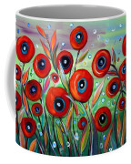 Red Poppies In Grass Coffee Mug