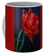 Red Princess Tulip On Blue Coffee Mug