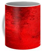 Red Rain Droplets Coffee Mug